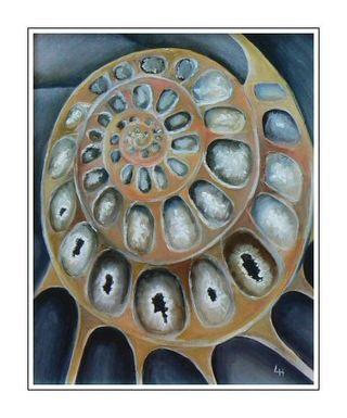 Spiral Ammonite Painting
