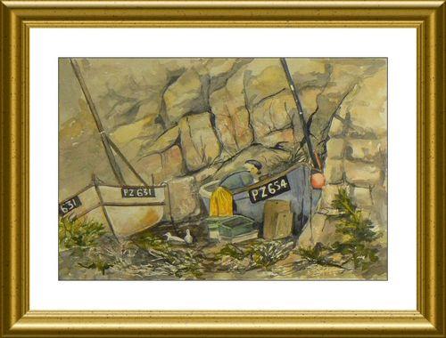 Fisherman At Work Painting
