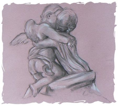 Sketch of Cupid & Psyche
