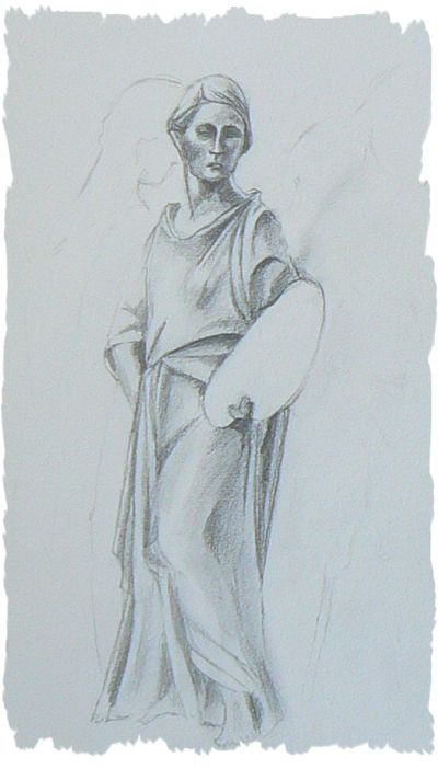 Sketch Statue at Lady Lever Gallery