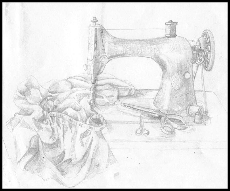 Sketch - sewing machine