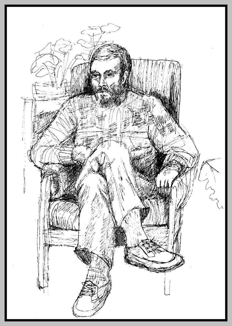 Sketch of David 1980s