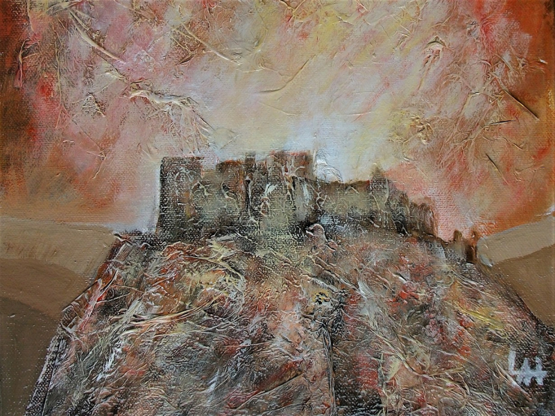 Carreg Cennen Castle, a Painting by Lilian Hopkins