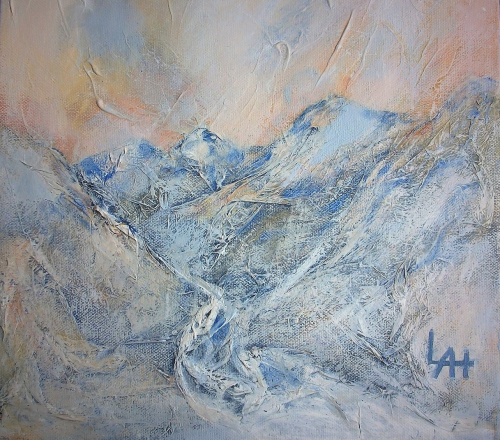 Light Mountains, a Painting by Lilian Hopkins
