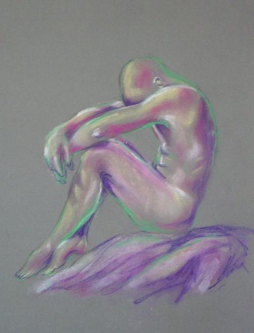 Sitting man sketch by Lilian Hopkins