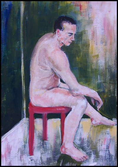 Portrait of Nude Man Sitting