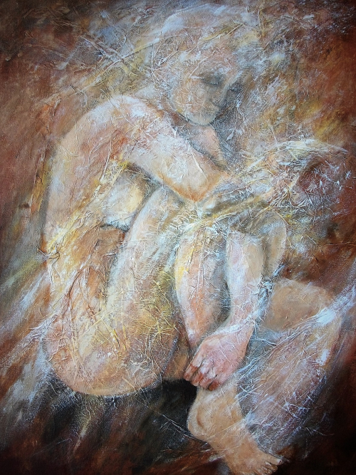 Abstract Nude, a Painting by Lilian Hopkins