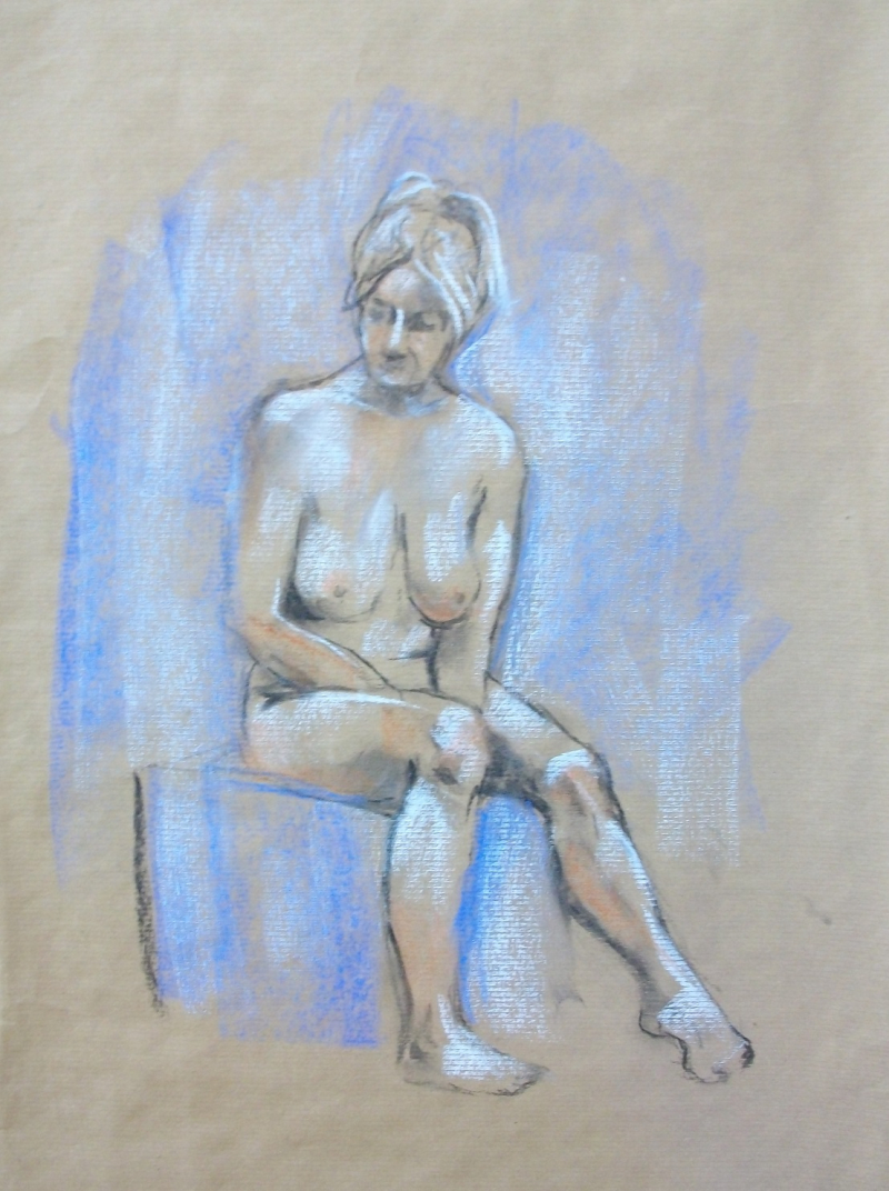 Female Nude Sketch by Lilian Hopkins