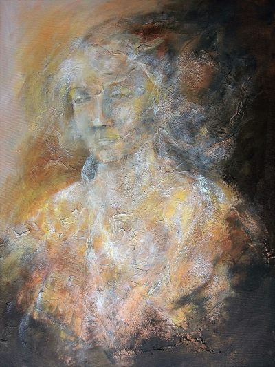 Abstract Portrait of a Lady, a Painting by Lilian Hopkins