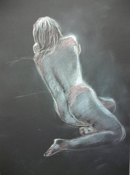 Sketch of Nude Female, by Lilian Hopkins