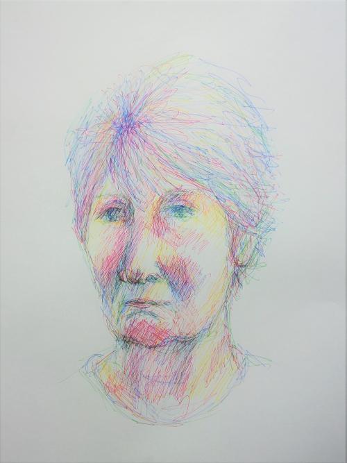 Portrait of a Lady, a sketch by Lilian Hopkins