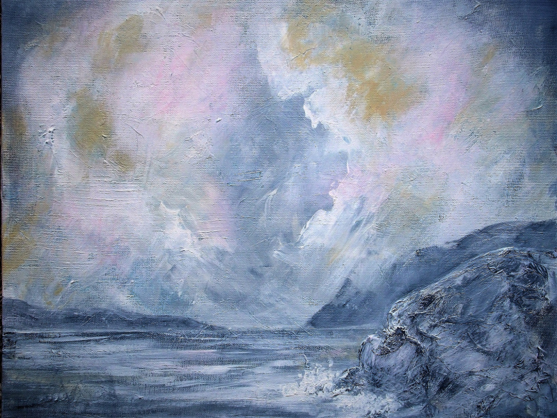 Seascape, a Painting by Lilian Hopkins