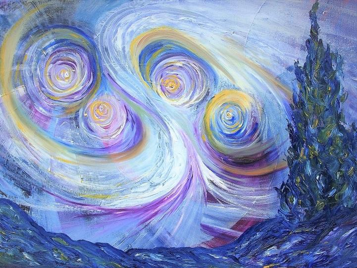 Van Gogh Homage painting by Lilian Hopkins