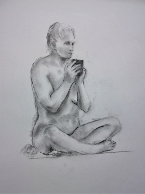 Nude Female sketch by Lilian Hopkins
