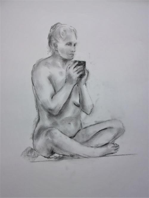 Nude Female sketch by Lilian Hopkins