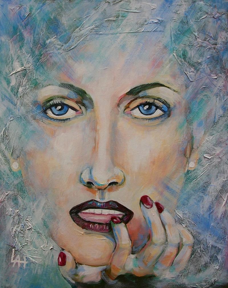 Portrait of woman by Lilian Hopkins