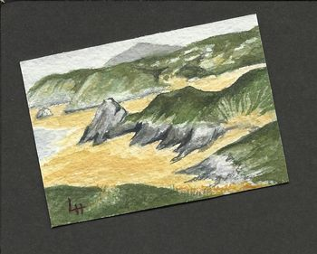 ACEO: Three Cliffs Bay