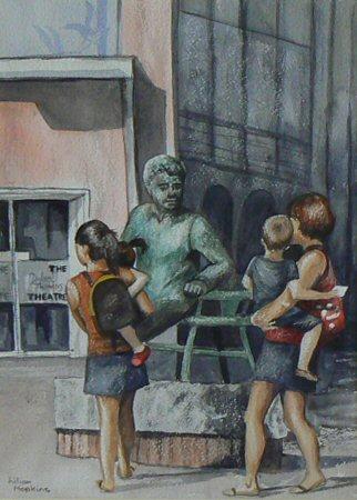 Visitng Dylan's Statue