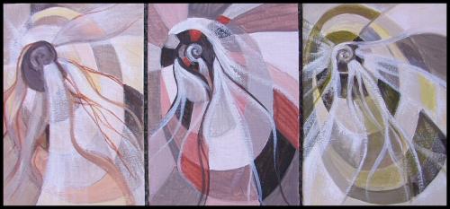 Spiral triptych A