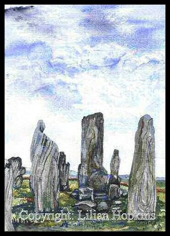 Callanuish Stone Circle, Isle of Lewis, Scotland