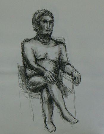 Quick Sketch Of Nude Man