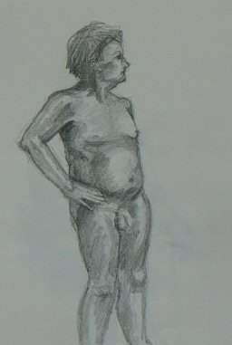 Quick Sketch Of Nude Man