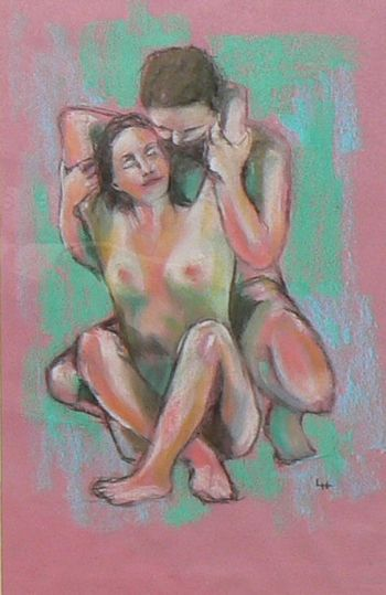 Sketch For Nude Couple 1