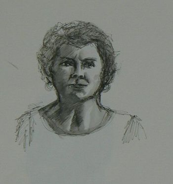 Quick Sketch Of Woman
